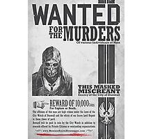 Wanted Poster from Dishonored Photographic Print