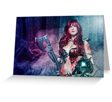 Red Sonja cosplay - after the bloodbath Greeting Card