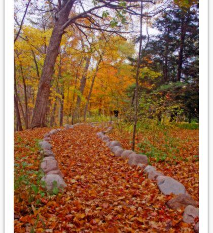 Autumn Nature Walk Sticker