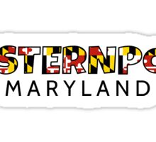 Westernport Maryland flag word art Sticker