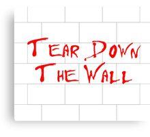 Pink Floyd - Tear Down the Wall Canvas Print