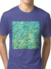 Mint and blue with small fern Tri-blend T-Shirt