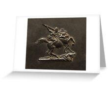 The Amazon on Horseback Greeting Card