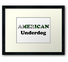 American Underdog - Pakistan Framed Print