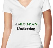 American Underdog - Pakistan Women's Fitted V-Neck T-Shirt