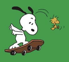 Snoopy Skate One Piece - Short Sleeve