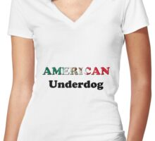American Underdog - Mexico Women's Fitted V-Neck T-Shirt