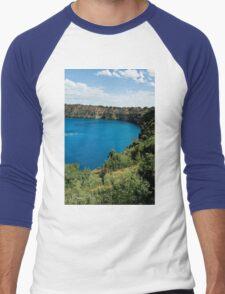 0855 Blue Lake - Mount Gambier Men's Baseball ¾ T-Shirt