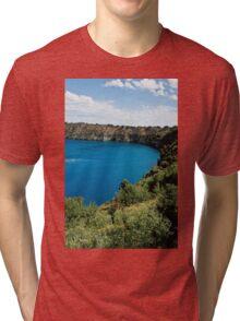 0855 Blue Lake - Mount Gambier Tri-blend T-Shirt