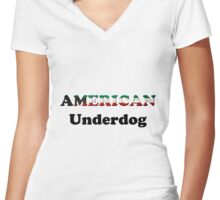 American Underdog - Kuwait Women's Fitted V-Neck T-Shirt