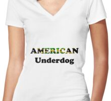 American Underdog - Jamaica Women's Fitted V-Neck T-Shirt