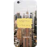 happiness is the key iPhone Case/Skin
