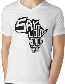 SAY IT LOUD: Africa Mens V-Neck T-Shirt