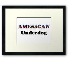 American Underdog - Haiti Framed Print