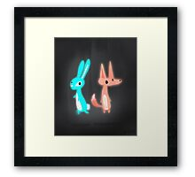 Ghost Animals - Bunny & Fox Framed Print