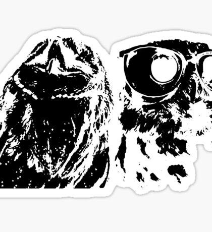 Wise Guys Black Sticker