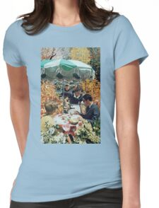 Drink up (before the children get back), Vintage Collage Womens Fitted T-Shirt