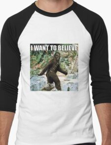 Chewy in the woods Men's Baseball ¾ T-Shirt
