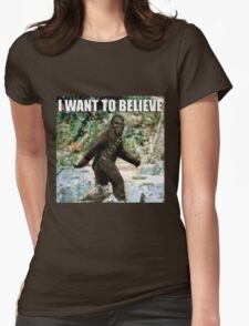 Chewy in the woods Womens Fitted T-Shirt