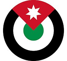 Roundel of the Royal Jordanian Air Force  Photographic Print