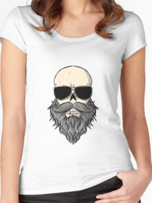 Bearded Skull Women's Fitted Scoop T-Shirt