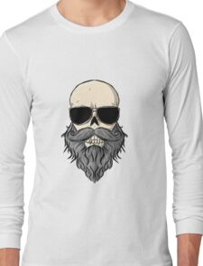 Bearded Skull Long Sleeve T-Shirt
