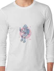 Blue Space Man Long Sleeve T-Shirt