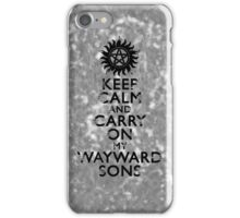 Carry on Wayward Sons Grunge iPhone Case/Skin