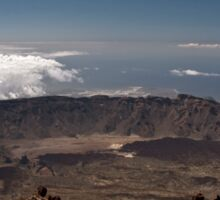 El Teide: Crater Above the Clouds Sticker