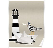 Fisher seagull Poster
