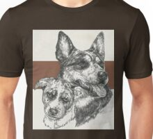 Australian Cattle Dog, Father & Son  Unisex T-Shirt