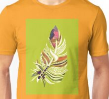 Lime Love! Fun and Funky, Fanciful Feather Unisex T-Shirt