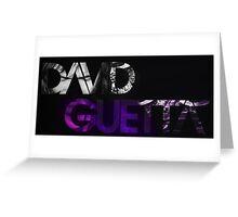 David Guetta logo black Greeting Card