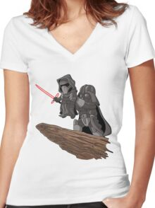 Star Wars The Lion King Women's Fitted V-Neck T-Shirt
