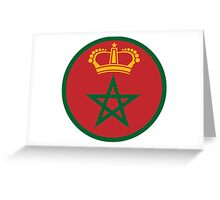 Roundel of the Royal Moroccan Air Force Greeting Card