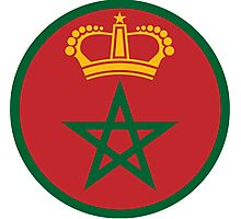 Roundel of the Royal Moroccan Air Force Photographic Print