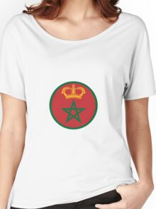 Roundel of the Royal Moroccan Air Force Women's Relaxed Fit T-Shirt