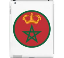 Roundel of the Royal Moroccan Air Force iPad Case/Skin