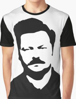Ron Swanson - Parks and Recreation Graphic T-Shirt