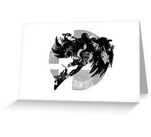 Bayonetta Smash - Light Grey Greeting Card