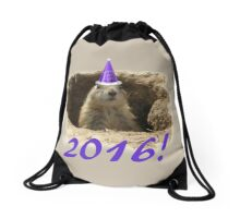 Prairie Dog New Year 2016 Drawstring Bag