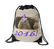 Prairie Dog New Year 2016 Drawstring Bag