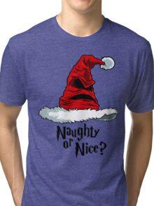 Naughty or Nice? Tri-blend T-Shirt