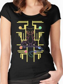 Ancient Mew - Black Background Women's Fitted Scoop T-Shirt