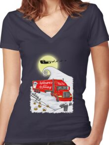 Nightmares Are Coming Women's Fitted V-Neck T-Shirt