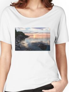 Silky Smooth and Transparent - Toronto Sunrise on the Lake Women's Relaxed Fit T-Shirt