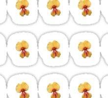 Yellow Pea Flowers Sticker