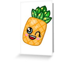 Cute Kawaii Pineapple Greeting Card