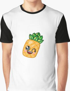 Cute Kawaii Pineapple Graphic T-Shirt