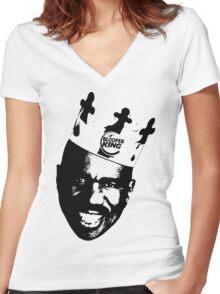 Steve Harvey - Blooper King Crowned Universe Women's Fitted V-Neck T-Shirt